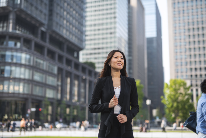 Portrait of a Japanese Businesswoman in Tokyo